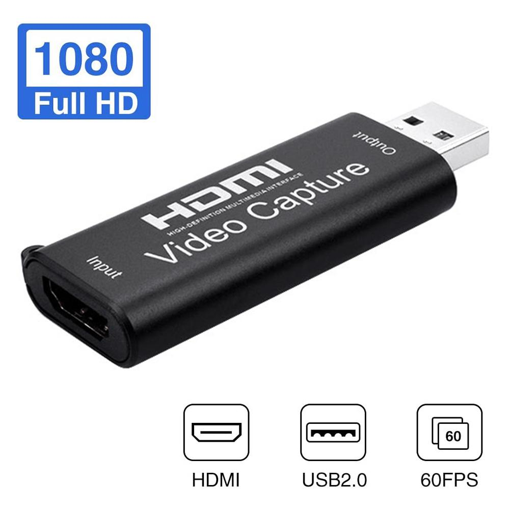 Hot!Mini HD 1080P HDMI To USB 2.0 Video Capture Card Game Recording Box for Computer Youtube OBS Etc. Live Streaming Broadcast 1