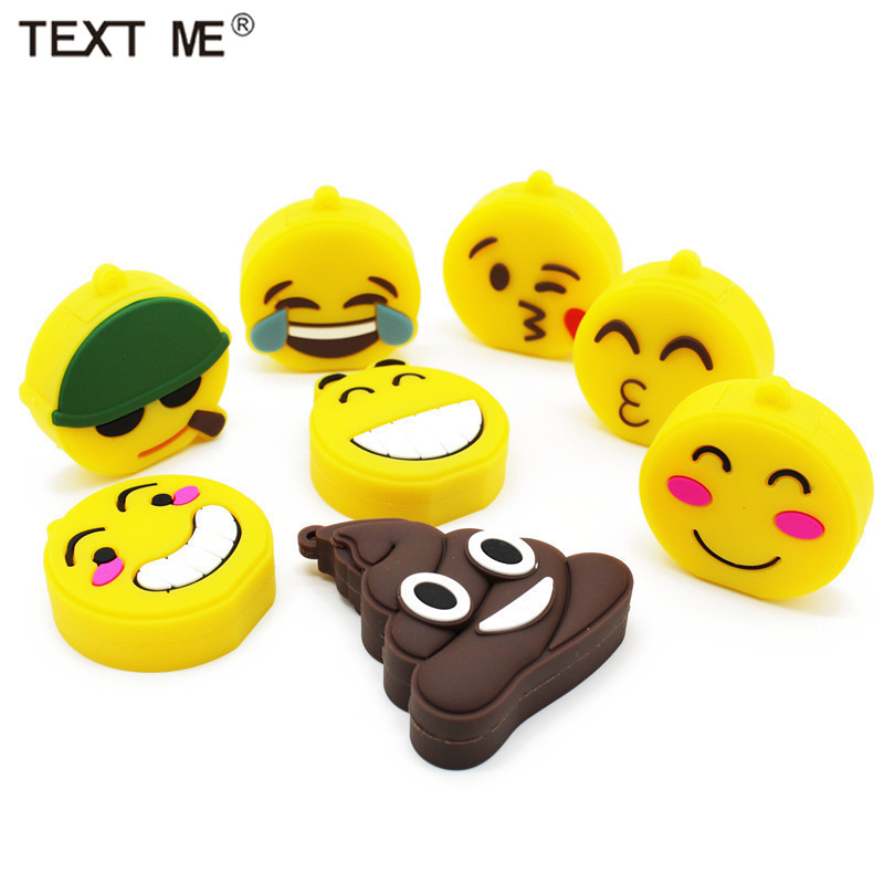 TEXT ME 64GB USB Stick Emotion Expression USB Flash Drive Pen Drive 4GB 8GB 16GB 32GB Usb2.0 Memory Stic