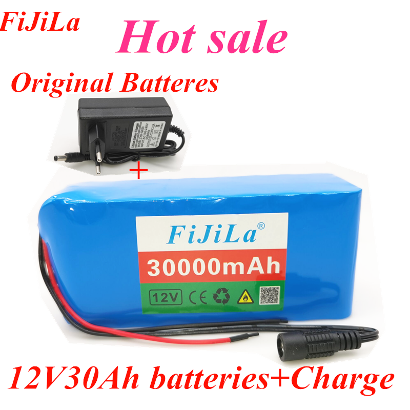 100% Original <font><b>18650</b></font> <font><b>12V</b></font> <font><b>Battery</b></font> <font><b>Pack</b></font> Large Capacity 12V30ah <font><b>18650</b></font> Lithium <font><b>Battery</b></font> Protection Board <font><b>12V</b></font> 30000mah Capacity+Charger image