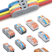 Cable-Connectors Splicing Spring Push-In-Terminal-Block Compact Fast-Wire Universal 423