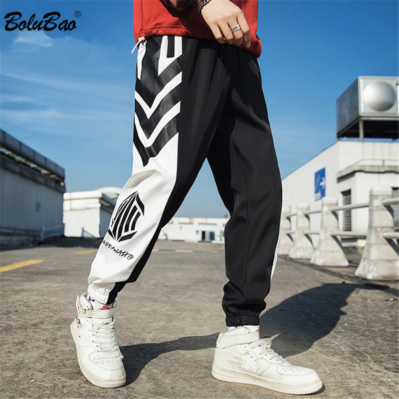 BOLUBAO New Men's Pants Brand Street Men Personality Small Feet Wild Trousers Pencil Pants Hip Hop Fashion Male Casual Pants
