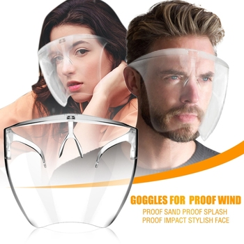 Safety Face Shield Transparent Goggles Screen Mask Visor Eye Protection Glasses Anti-fog Protective Dropshipper - discount item  27% OFF Cycling