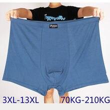 Cuecas masculinas de grandes dimensões roupa interior boxers grandes calções soltos masculinos calcinha 10xl 12xl 13xl 11xl calções boxer tamanhos grandes para homem