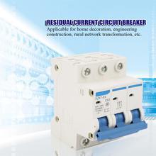цена на DZ47-63 3P+N C63 RCCB Residual Current Circuit Breaker 220/380V 63A air switch circuit breaker
