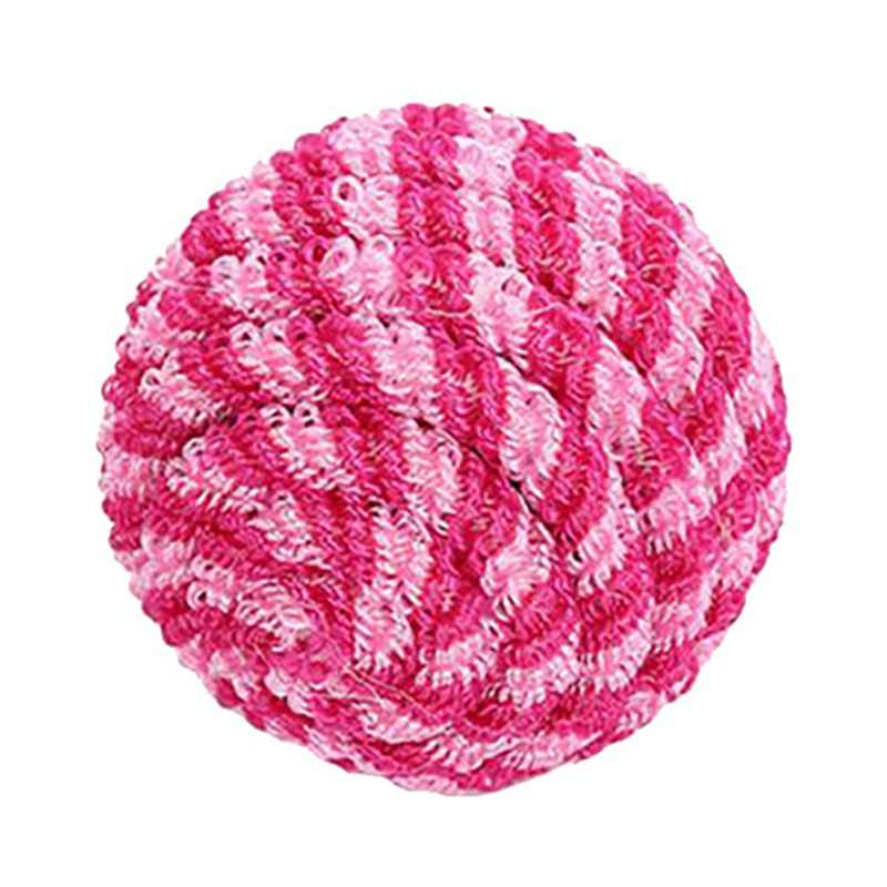 Pet Cat Elastic Thread Rolling Ball Toy Interactive Toy Bouncy Ball For Solving Boredom Tease Cats Exercise Scratch Color Random