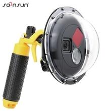 SOONSUN Diving Dome Port wodoodporna obudowa filtr przełączana kopuła dla GoPro Hero 7 6 5 czarna obudowa wyzwalacza dla Go Pro akcesoria
