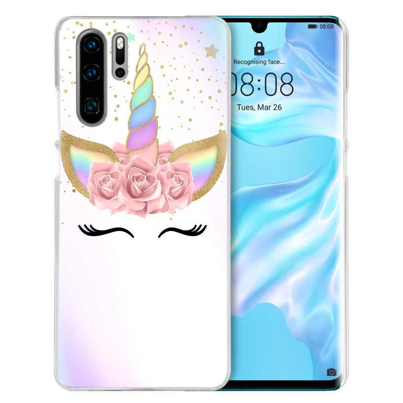 O meu Unicórnio Case for Huawei Companheiro 30 20 10 P20 P30 Lite Pro P Inteligente Y9 Prime 2019 Honra 8A 8X 10i PC Tampa Do Telefone Sacos