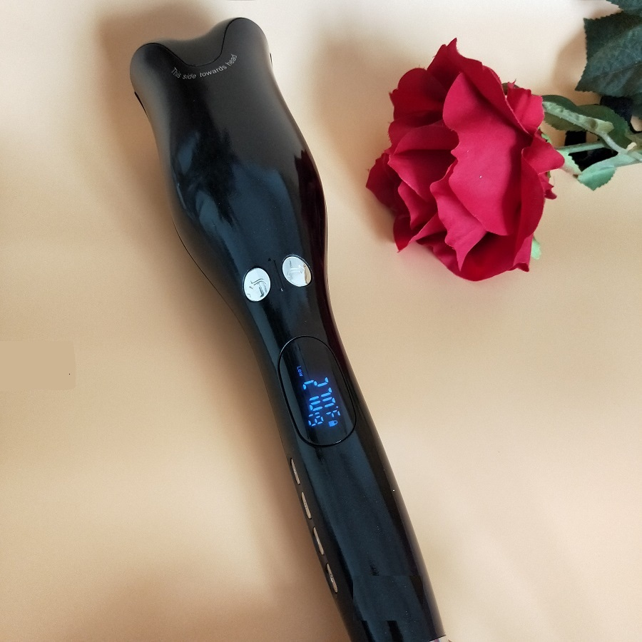 Rose-shaped Multi-Function LCD Curling Iron Professional Hair Curler Styling Tools Curlers Wand Curl Automatic Curly Air 0002