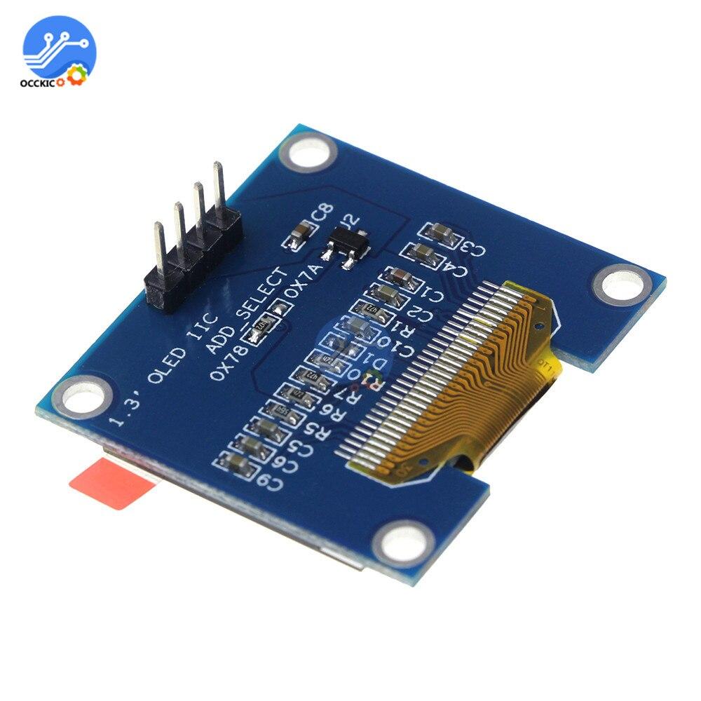 """1,3 дюймов IIC IEC серийный белый OLED дисплей модуль 128X64 интерфейс IEC ssh1106 плата с ЖК-экраном 3,3-5 в 1,"""" для Arduino"""