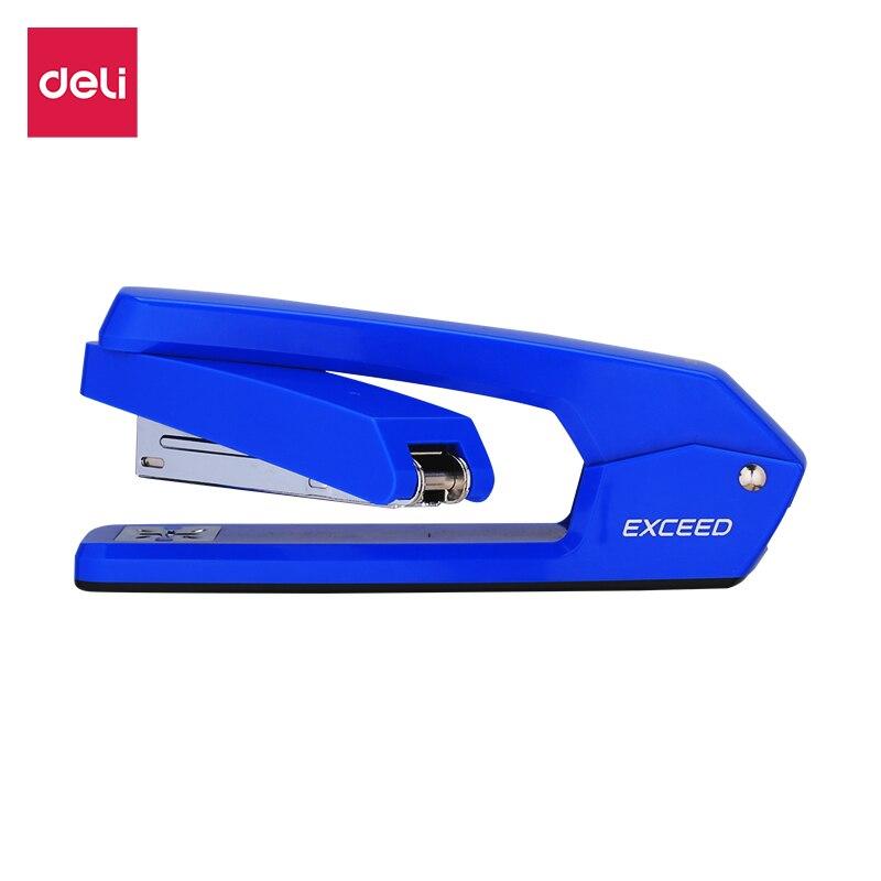 DELI Swivel Stapler E0434 Office Home Use Half Strip Stapler 25sheets Smooth Stapling Rotatable Anvil Stationery