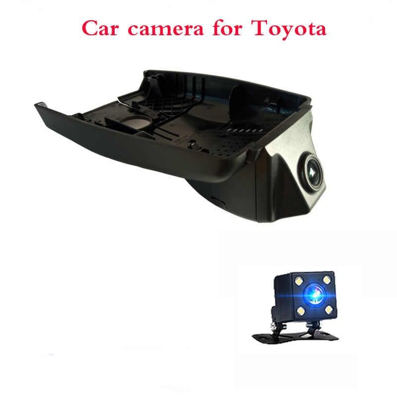 1080P Cámara del coche Dvr de la cámara del coche de 24 horas con grabadora de vídeo cámara trasera para Toyota Chr 2018 2019 Camry 2017 Yaris Corolla