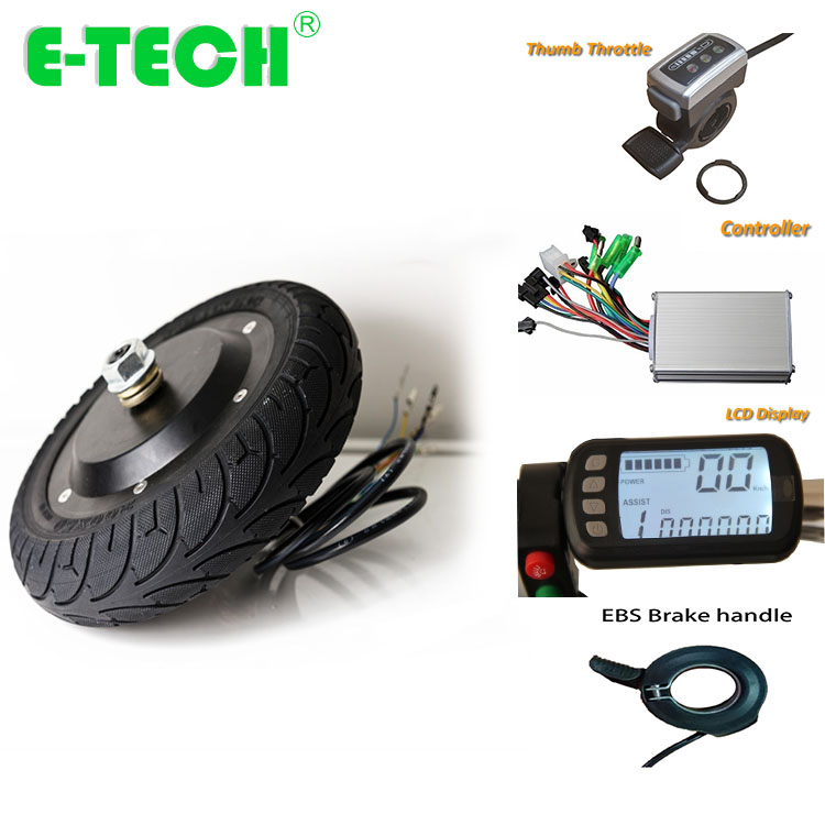 5 inch hub motor conversion kit 24V 36V 250W with controller lcd display ebs