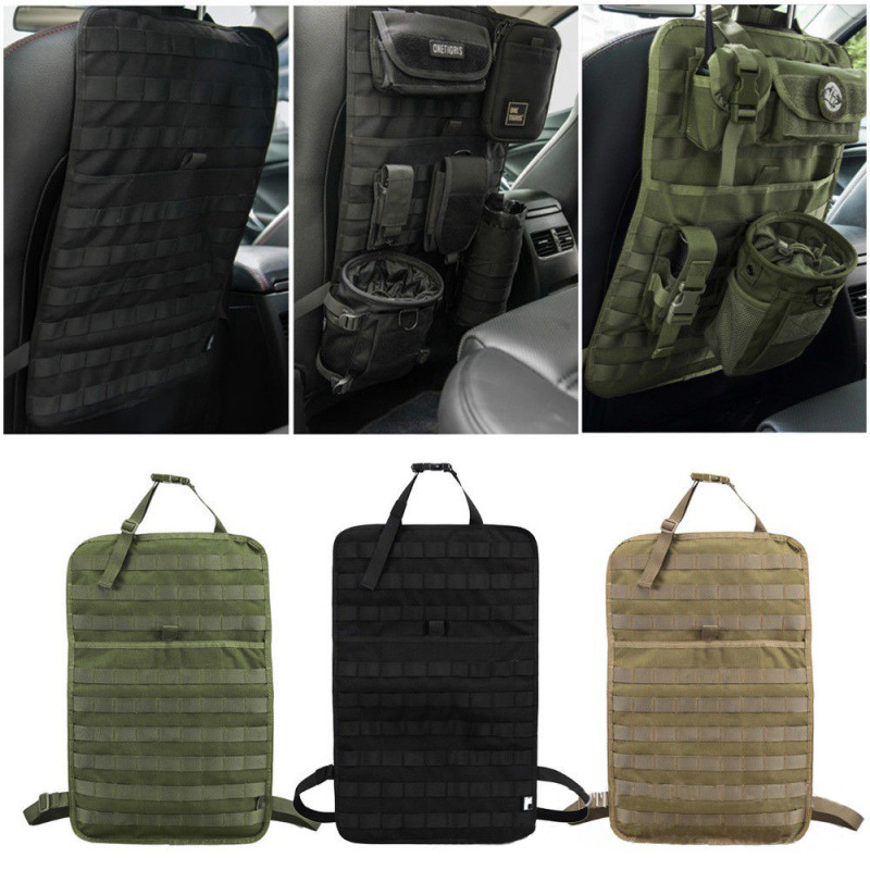 New Tactical MOLLE Bag Car Seat Back Organizer Storage Hunting Bag Pouch Seat Cover Case Vehicle Panel Car Seat Cover Protector