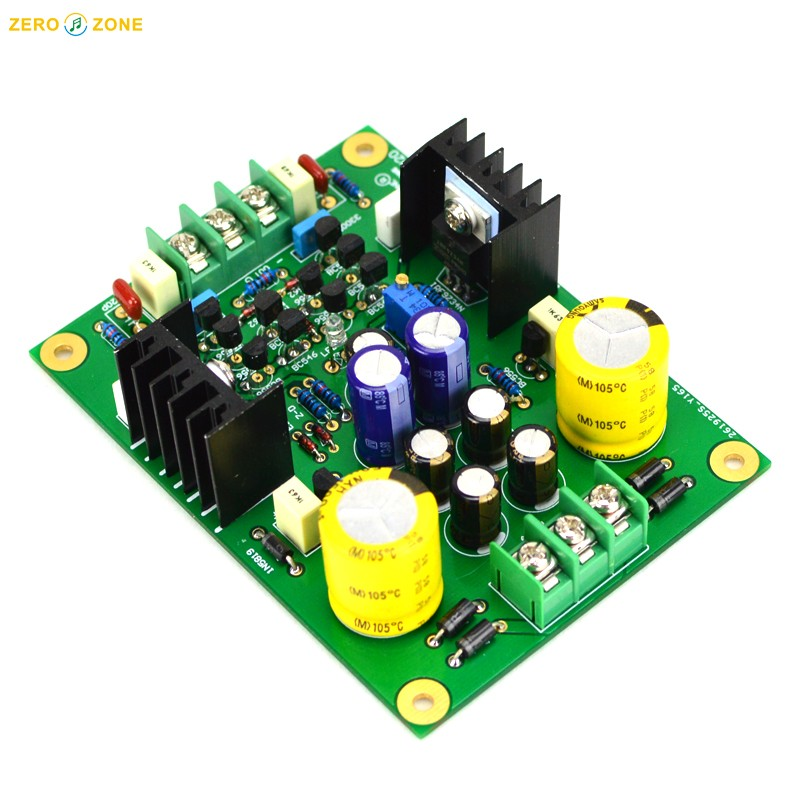 Dual Rail Linear Regulated Power Supply PCB Base on Sigma22 A22 Beta22 Circuit