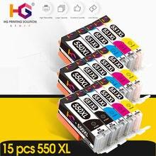 15 шт для canon pgi 550xl pgi550 550 cli551 pixma ip7250 mg5450