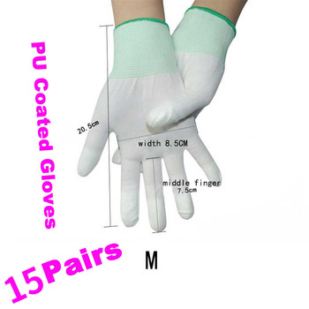 10 Pair Stable Quality Anti Static ESD Safe Antistatic Gloves Electronic Working Gloves PU Coated An