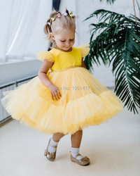 Robes d'été décontracté pour petites filles | En dentelle, motif floral, tenue de fête d'anniversaire et d'école, pour enfants