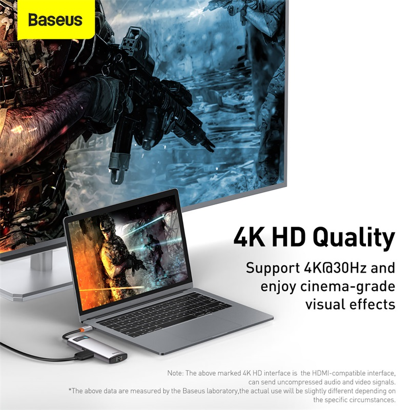 ¡¾Pre-Sale¡¿Baseus USB C HUB Type C to HDMI-compatible USB 3.0 Adapter 8 in 1 Type C HUB Dock for MacBook Pro Air USB C Splitter