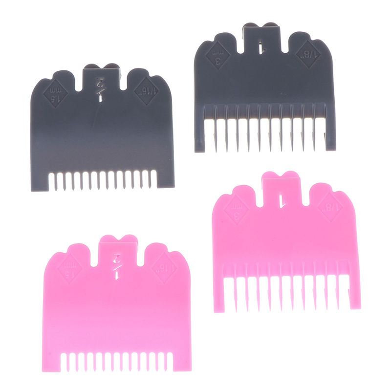 2pcs Limit Comb Set For Electric Hair Trimmer Shaver Professional Cutting Guide Comb Hairdressing Tool 1.5mm 3mm Set Colorful