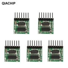Универсальный беспроводной радиочастотный передатчик QIACHIP, 5 шт., 433 МГц, обучающий код 1527, модуль кодирования, 433 МГц, переключатель дистанционного управления для Arduino