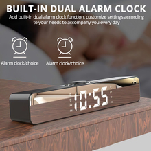 Alarm-Clock Computer-Speakers Display Sound-Bar Stereo Wireless Bluetooth for TV LED