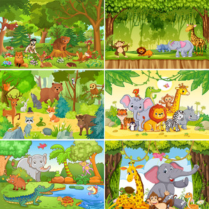 Cartoon Background Photography Background The Lion King Baby Birthday Backdrop Forest Party Decor Banner Backdrop Photo Studio