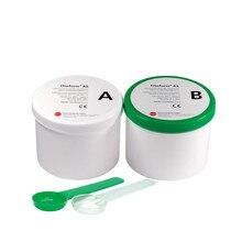 Dreve Material de impresión de oreja, verde y blanco, 35 Shore, 800g * 2