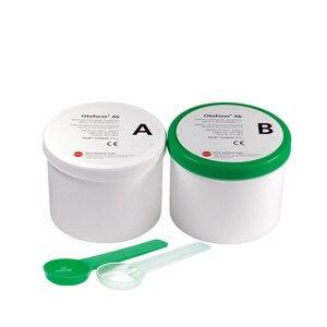 Image 1 - Dreve Material de impresión de oreja, verde y blanco, 35 Shore, 800g * 2