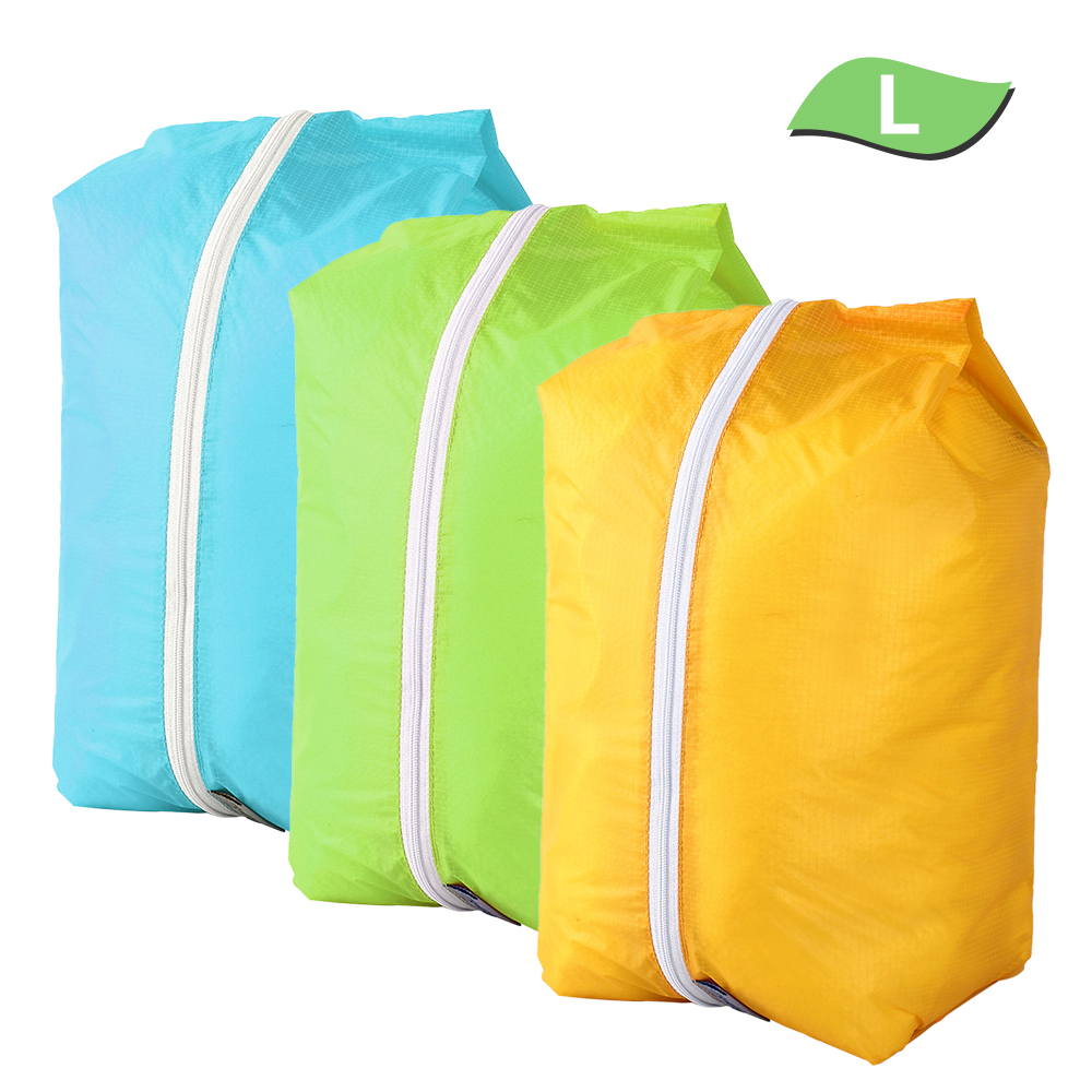 Waterproof Camping Shoes Bag Ultralight Travel Storage Bags Organizer Orange