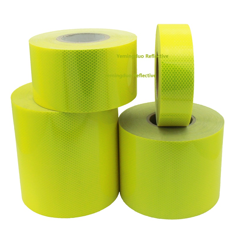 5 / 10 /15 / 20CM Super Strong Reflective CarDecoratiive Sticker Fluorescent Yellow Self-adhesive Tape Road Traffic Warning Sign