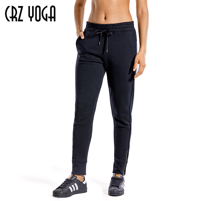 CRZ YOGA Womens Lightweight Joggers Pants with Pockets Drawstring Workout Running Pants with Elastic Waist