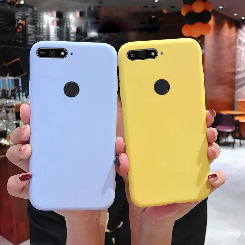 Soft Silicone Case for Honor 7S 7X 8A 8C 8X 7C 7A 8 9 10 Lite View 20 V20 V10 TPU Matte Cute Colorful Back Shell