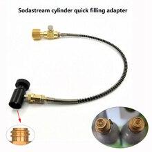 Фабрики соды клуб баллон CO2 наполнительный адаптер с подключением в w21.8-14,CGA320 укрепить шланг и вкл/выкл адаптер
