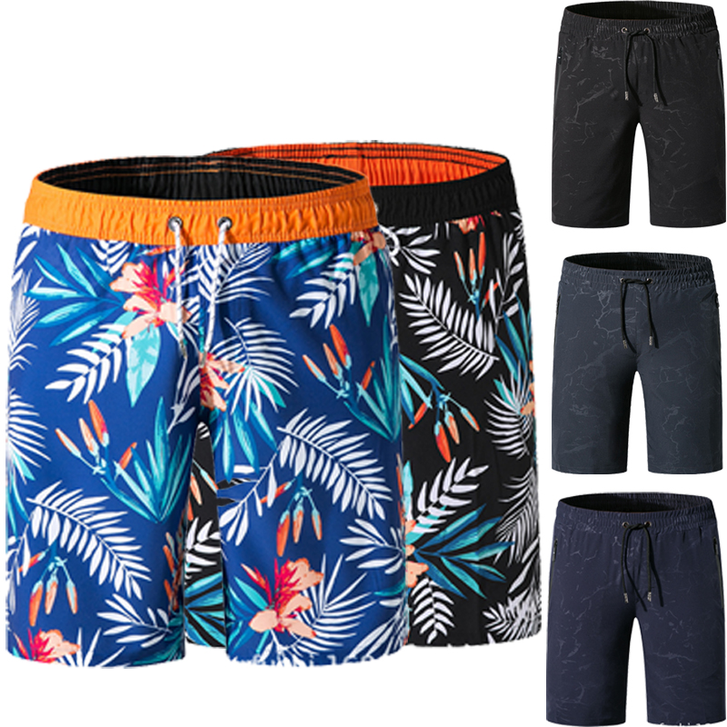 2019 New Beach   Board     Shorts   Men High Quality Surfing Swim   Shorts   Beachwear Sports   Short     Board     Shorts   Plus Size M-3XL Trunks Male