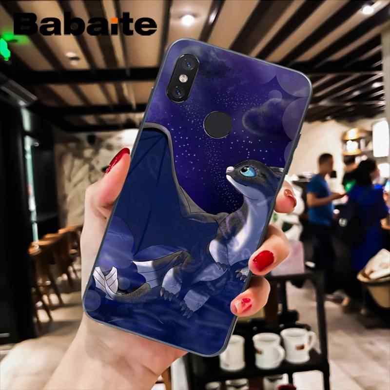 Babaite cómo entrenar tu funda de teléfono de dibujos animados sin dientes de dragón para xiaomi6 MIX2 note3 redmiK20 7 xiaomi8SE redminote4 4X note5 5A
