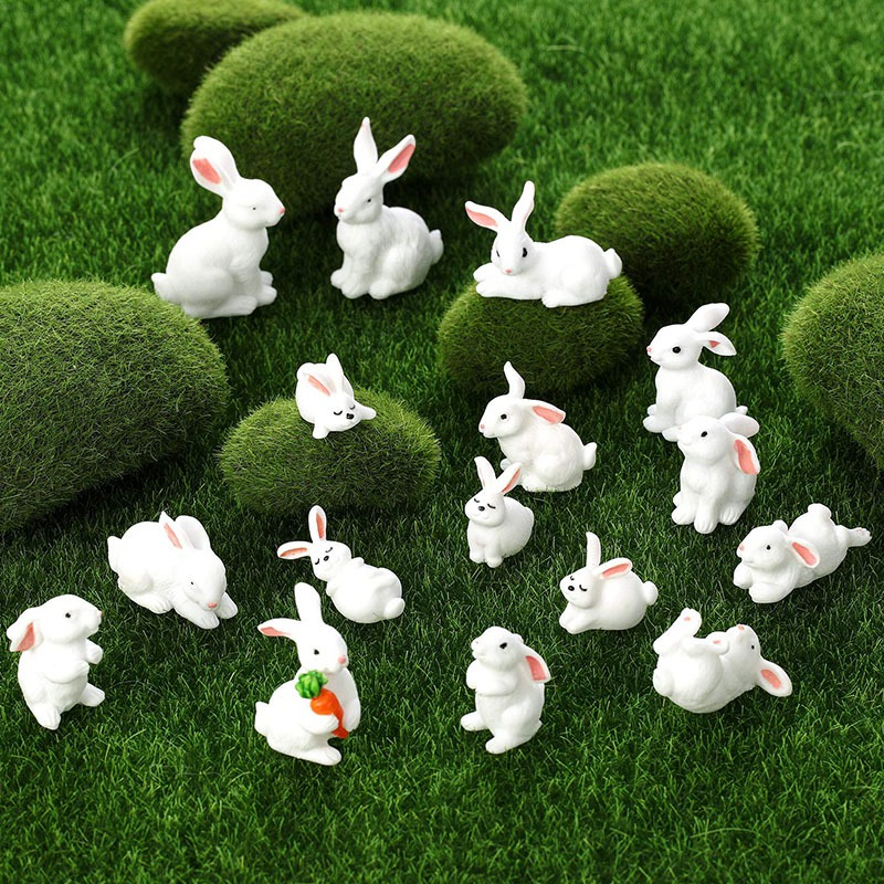 Cute Animal Mini Figurine Toy Set Mini Cake Decoration Crafts Suitable For Children Party Favorite Fun Office Home Decoration