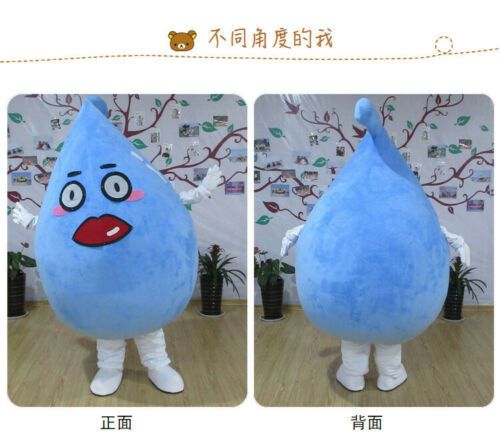 Details about  /Blue Water Drop Mascot Costume Suits Cosplay Party Game Fancy Dress Halloween #A