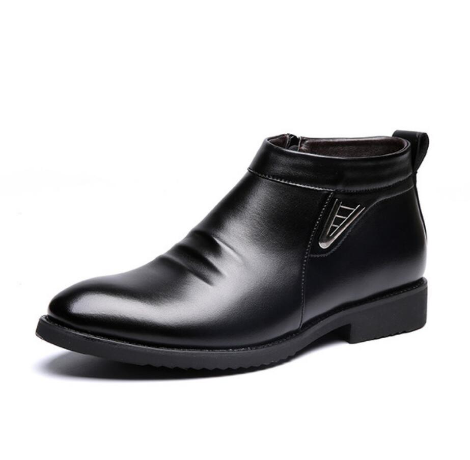 Luxury Winter Super Warm Men Genuine Leather Snow Boots Men Shoes High Quality Men Vintage British Military Boots Erkek Bot Bota