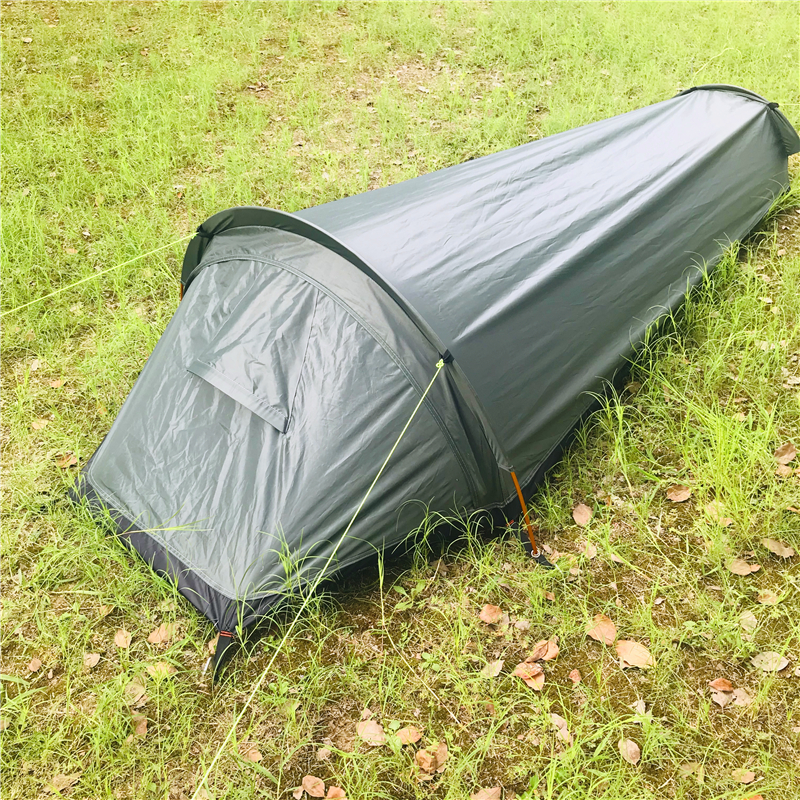 Ultralight Travel Backpacking Tent Outdoor Camping Sleeping Bag Tent Lightweight Single Person Tent for Hiking Camping Travel(China)