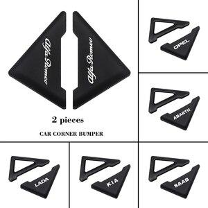 Porta do carro canto capa de silicone anti-risco protetor para mitsubishi ralliart outlander mirage lancer evolução 10 eclipse l200