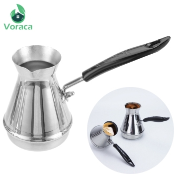 Stainless Steel Turkish Coffee Pot Cevze Ibrik Arabica Coffee Maker Kettles Percolators European Long Handle Mocha Moka Pots 1