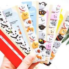 Bonito dos desenhos animados almofada de memorando kawaii animais dos desenhos animados notas pegajosas escrever almofadas marcadores de livros escola artigos de papelaria fornecimento