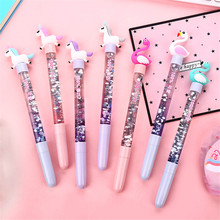 Cute Unicorn Gel Pen Quicksand Glitter Crystal Shiny Colorful Creative Novelty Stationery