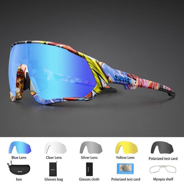 Óculos de ciclismo uv400 mtb bicicleta óculos de sol correndo pesca esportes óculos de sol 3