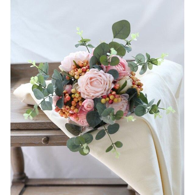 Фото розовые свадебные букеты eye cathing новое поступление 2020