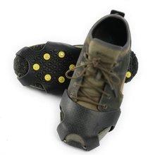 10 шипов зимние альпинистские противоскользящие ледяные зимние шипы Захваты Шипы для обуви