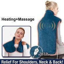 Enveloppe en flanelle pour soulager les douleurs du cou, des épaules, du dos et des Muscles, coussin chauffant, masseur domestique Extra Long, bandeau thermique