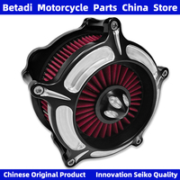 Motorcycle Air Filter Moto Parts Intake Cleaner System For Harley Sportster XL883 XL1200 Softtail Glide Touring Dyna FXDB 00 18