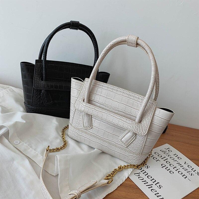 Sacs à main de luxe femmes sacs Designer rouge PU cuir sac trapèze tendance mode épaule sac fourre-tout détachable chaînes en or sac à main