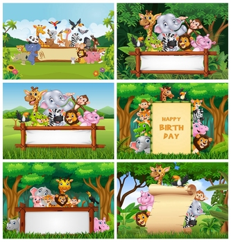 Jungle Safari Birthday Party Animal Baby Personalized Child Poster Photo Background Photography Backdrop Photocall Photo Studio allenjoy background photography wildlife jungle animal forest safari party boy kids birthday round backdrop cover photocall